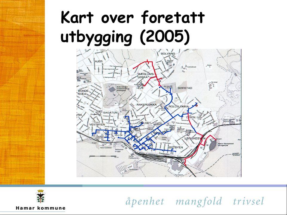 Kart over foretatt utbygging (2005)