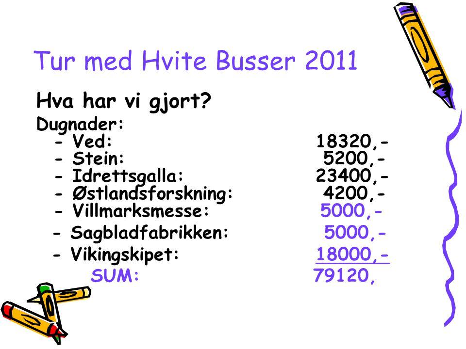 Tur med Hvite Busser 2011 Hva har vi gjort.
