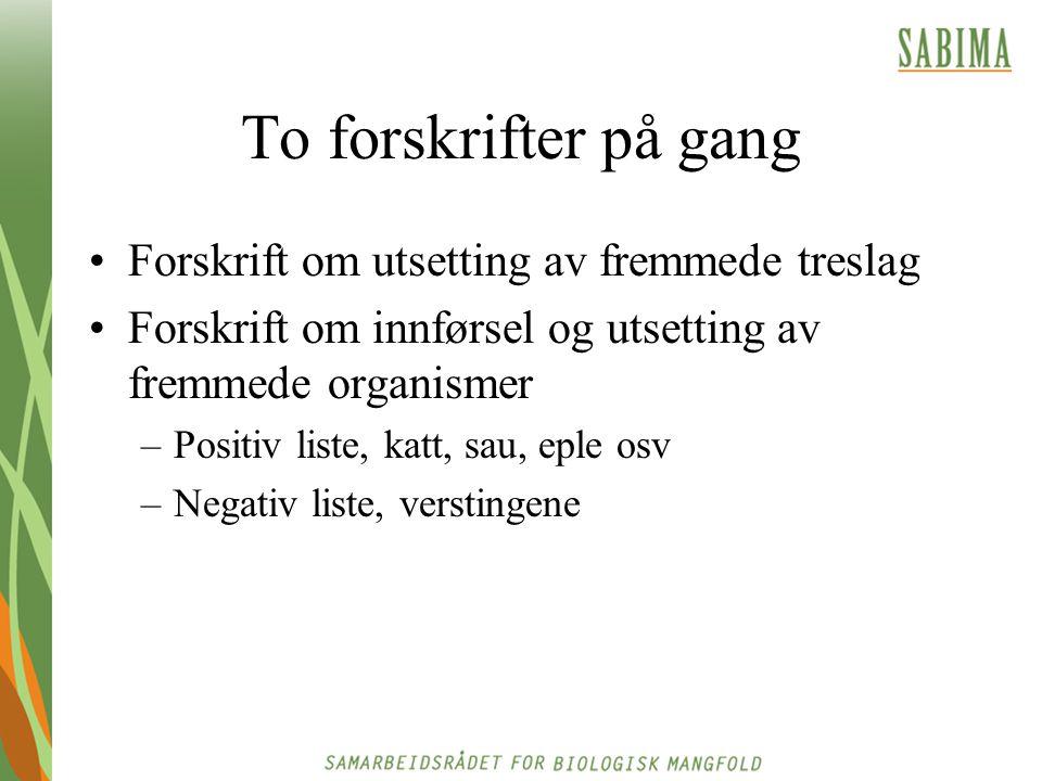 § 29 (innførsel) Levende eller levedyktige organismer kan bare innføres til Norge med tillatelse fra myndigheten etter denne loven.