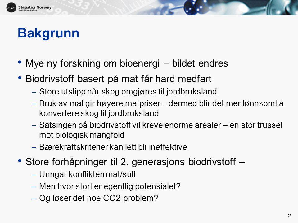 3 Biodrivstoff av trevirke Total forbruk av drivstoff i Norge ca 5 milliarder liter/år – utgjør ca 20 prosent av norske utslipp av klimagasser Bruker vi 10 millioner m3 trevirke, kan det gi oss ca 1 milliard liter biodiesel.