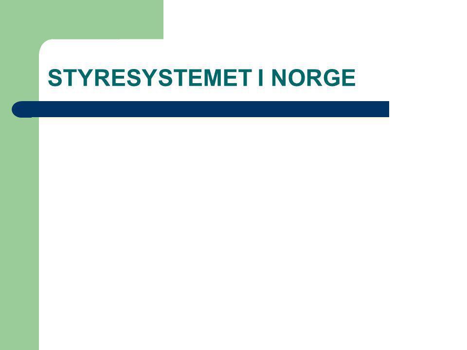 STYRESYSTEMET I NORGE