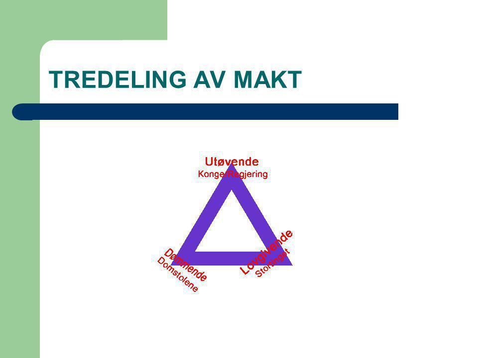 TREDELING AV MAKT