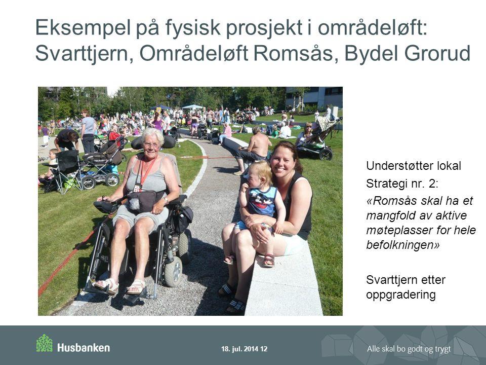 Eksempel på fysisk prosjekt i områdeløft: Svarttjern, Områdeløft Romsås, Bydel Grorud Understøtter lokal Strategi nr.