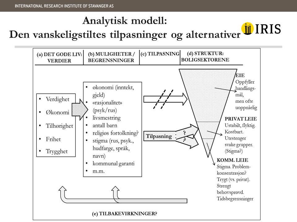 Analytisk modell: Den vanskeligstiltes tilpasninger og alternativer