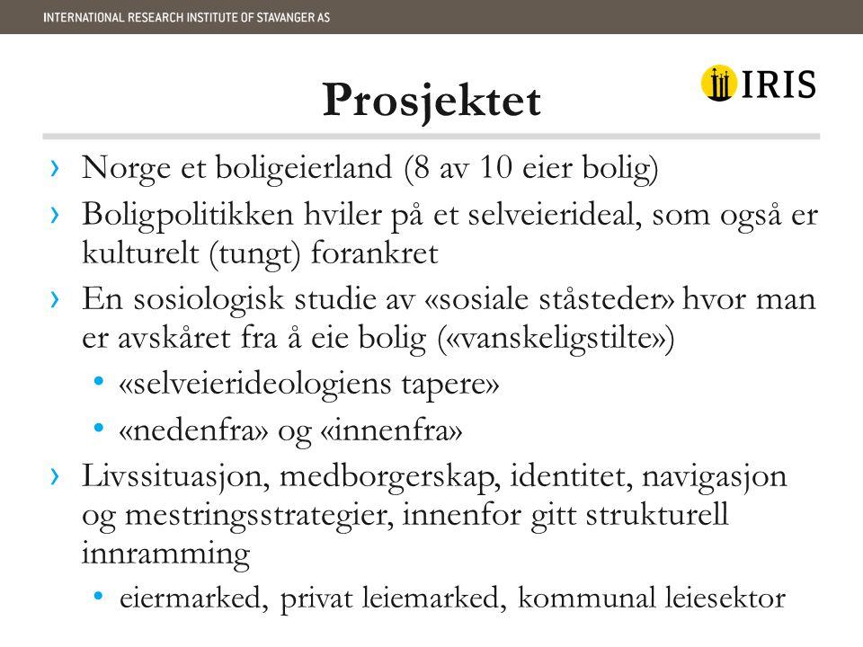 Prosjektet › Norge et boligeierland (8 av 10 eier bolig) › Boligpolitikken hviler på et selveierideal, som også er kulturelt (tungt) forankret › En so