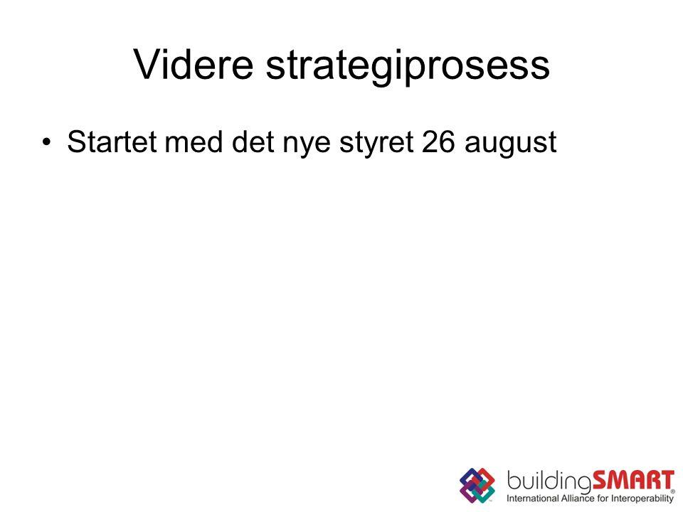Videre strategiprosess Startet med det nye styret 26 august