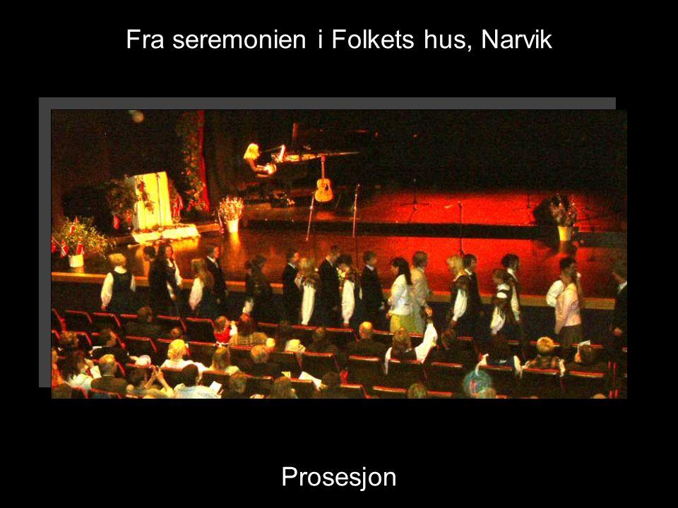 Fra seremonien i Folkets hus, Narvik Prosesjon