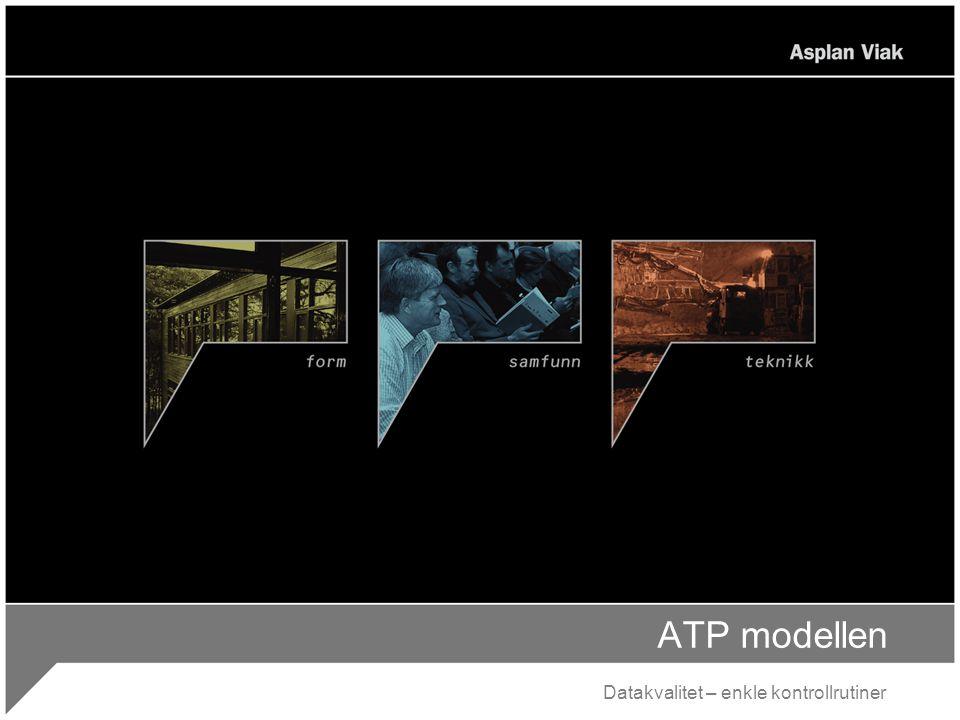 ATP modellen Datakvalitet – enkle kontrollrutiner