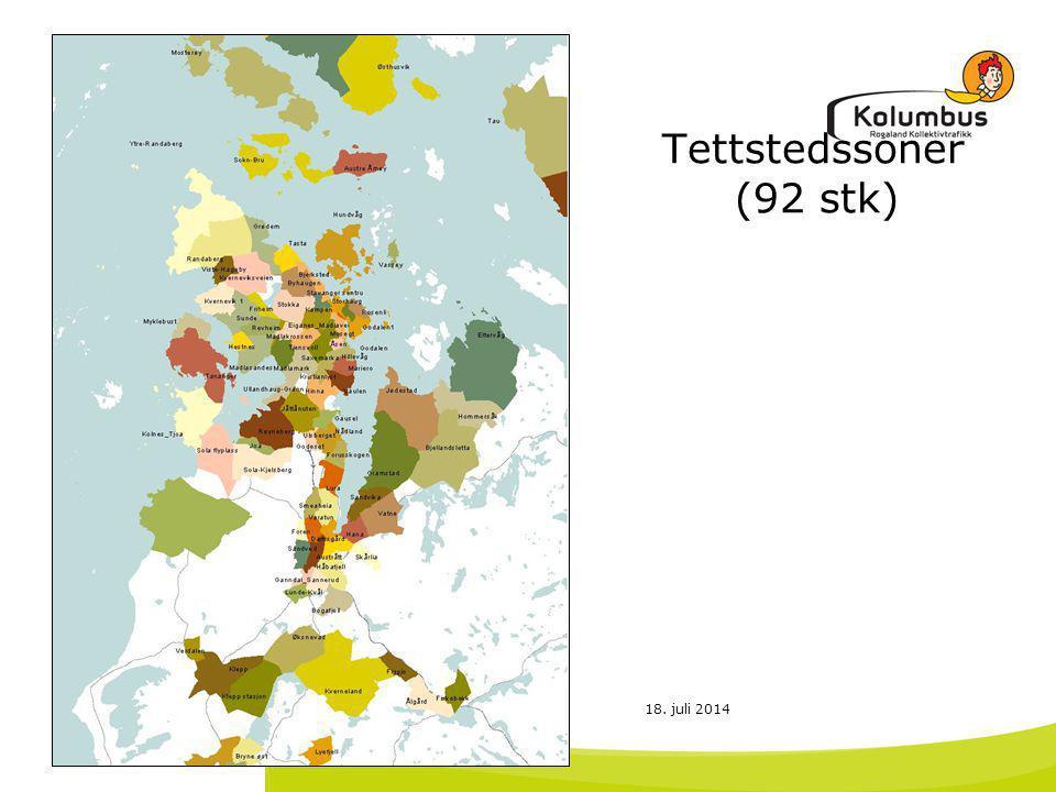 18. juli 2014 Tettstedssoner (92 stk)