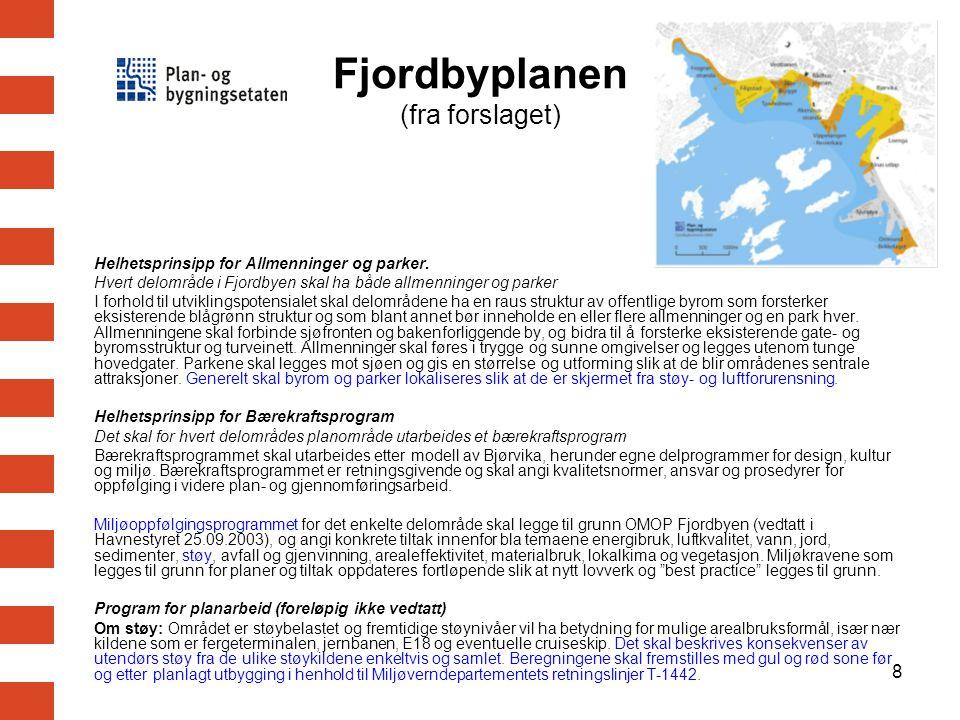 9 Varslingskart for Oslo Støysonekart med røde og gule soner basert på EU-kartleggingen EU-kartet kan enkelt omarbeides for fremstilling i tråd med T-1442 Opplyse om vektige mangler (fremtidsprognose, maks.nivåer) Kan brukes inntil korrekt kart er ferdig i 2009/2010 Nytt støysonekart utarbeides samtidig med ny EU-kartlegging i 2012 Midlertidig varslingskart ?
