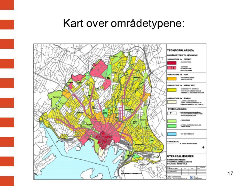 17 Kart over områdetypene: