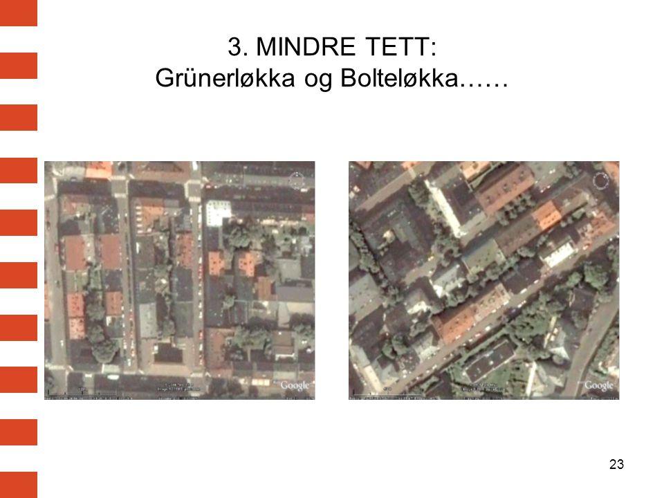 23 3. MINDRE TETT: Grünerløkka og Bolteløkka……
