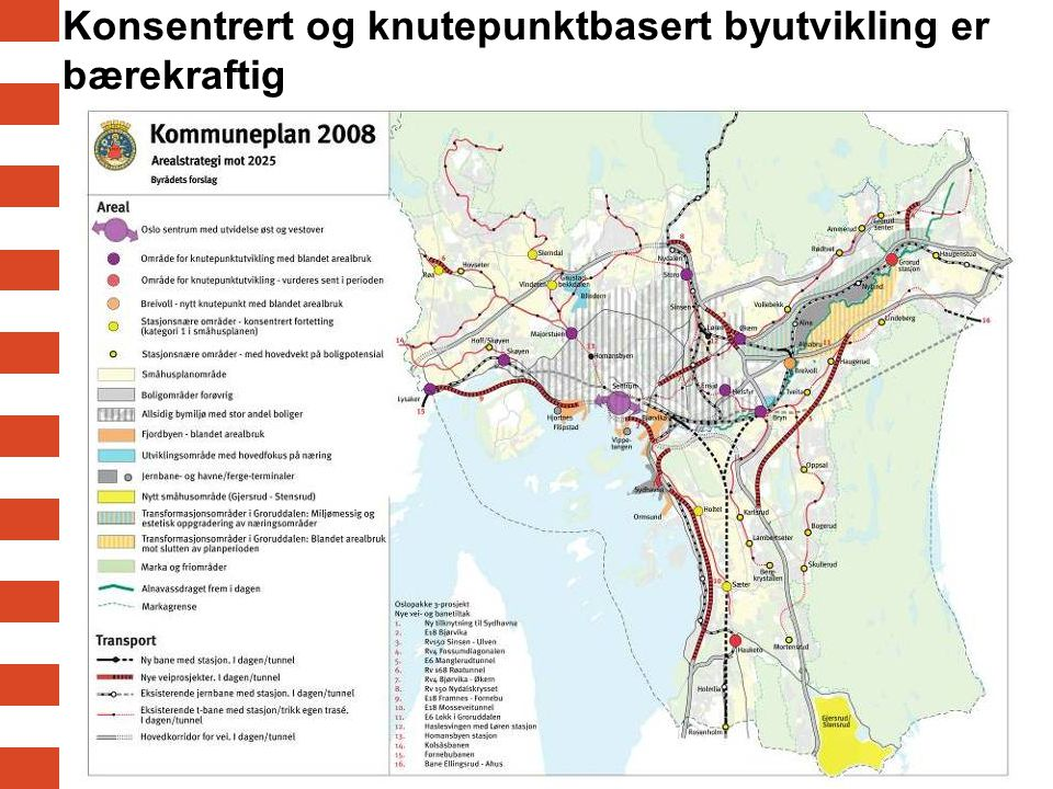 Utfordring: BÆREKRAFTIG BYUTVIKLING: Bærekraftig boligfortetting skal skje der grøntarealet er minst (pr innbygger) i følge Kommuneplan 2008 -25