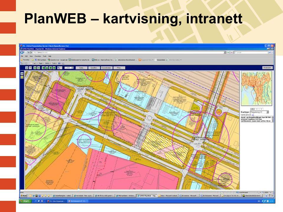 PlanWEB – kartvisning, intranett
