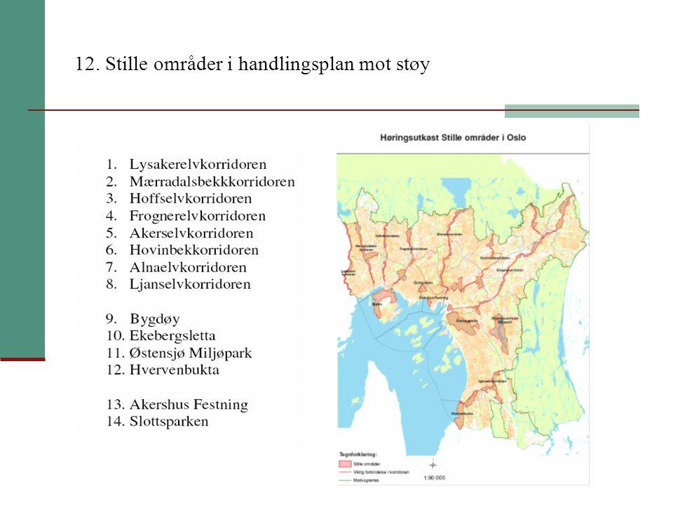 12. Stille områder i handlingsplan mot støy