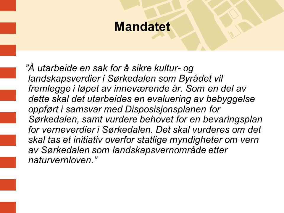 """Mandatet """"Å utarbeide en sak for å sikre kultur- og landskapsverdier i Sørkedalen som Byrådet vil fremlegge i løpet av inneværende år. Som en del av d"""