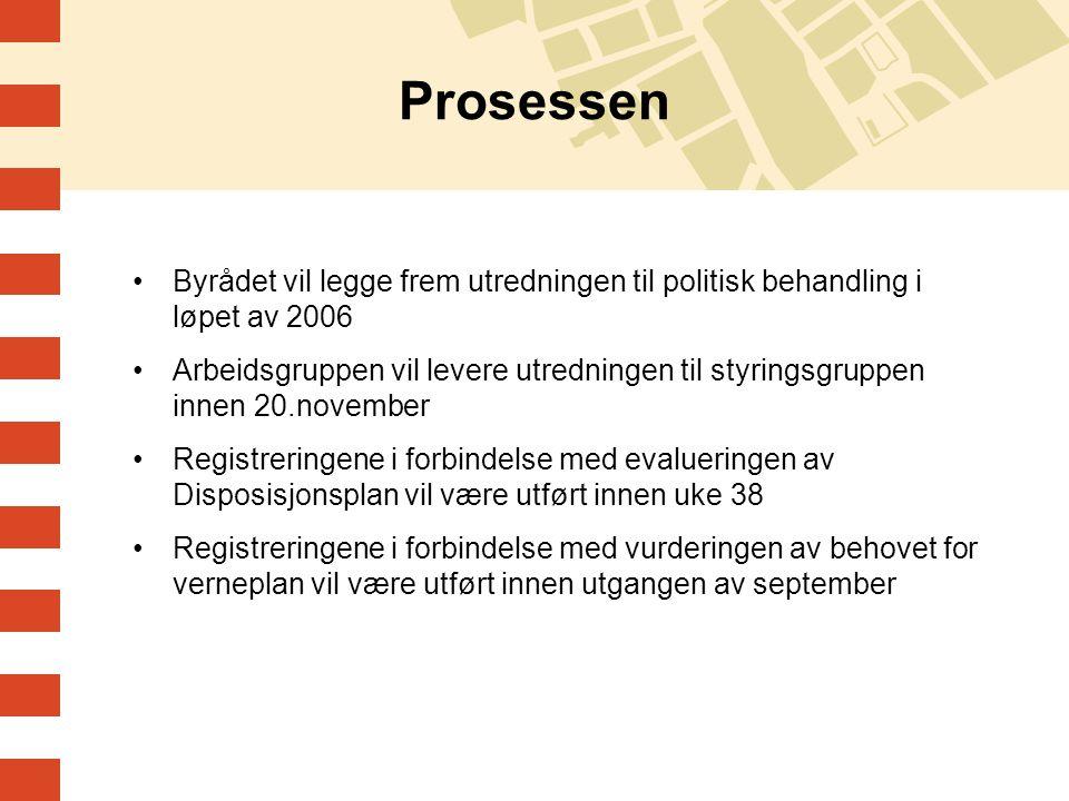 Prosessen Byrådet vil legge frem utredningen til politisk behandling i løpet av 2006 Arbeidsgruppen vil levere utredningen til styringsgruppen innen 2