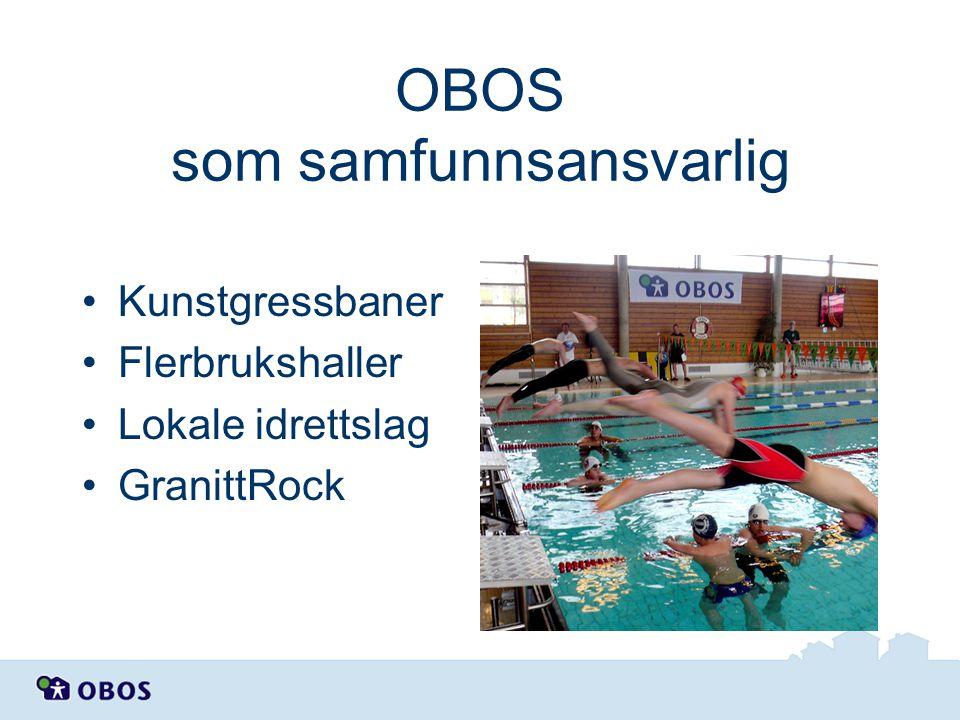 OBOS som samfunnsansvarlig Kunstgressbaner Flerbrukshaller Lokale idrettslag GranittRock