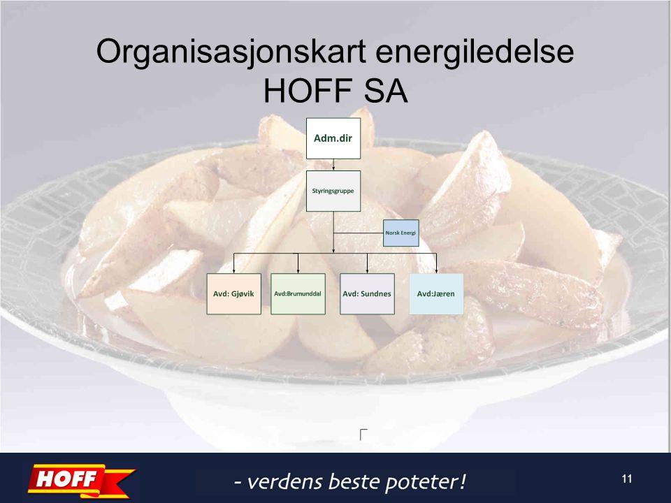 Organisasjonskart energiledelse HOFF SA 11