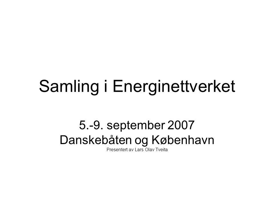 Samling i Energinettverket 5.-9.