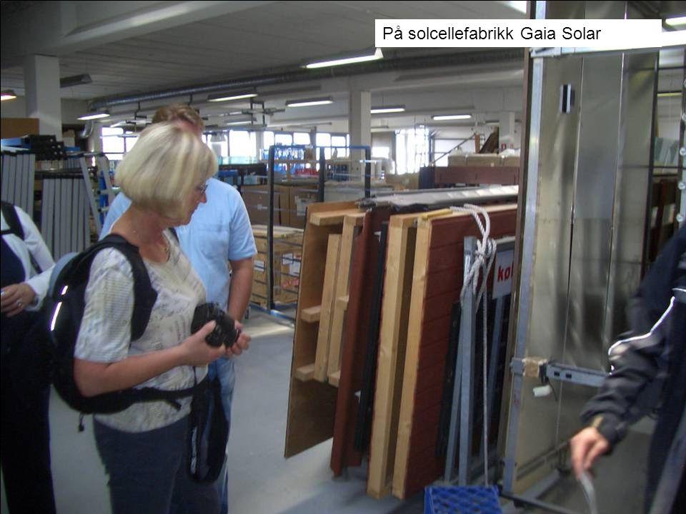 På solcellefabrikk Gaia Solar