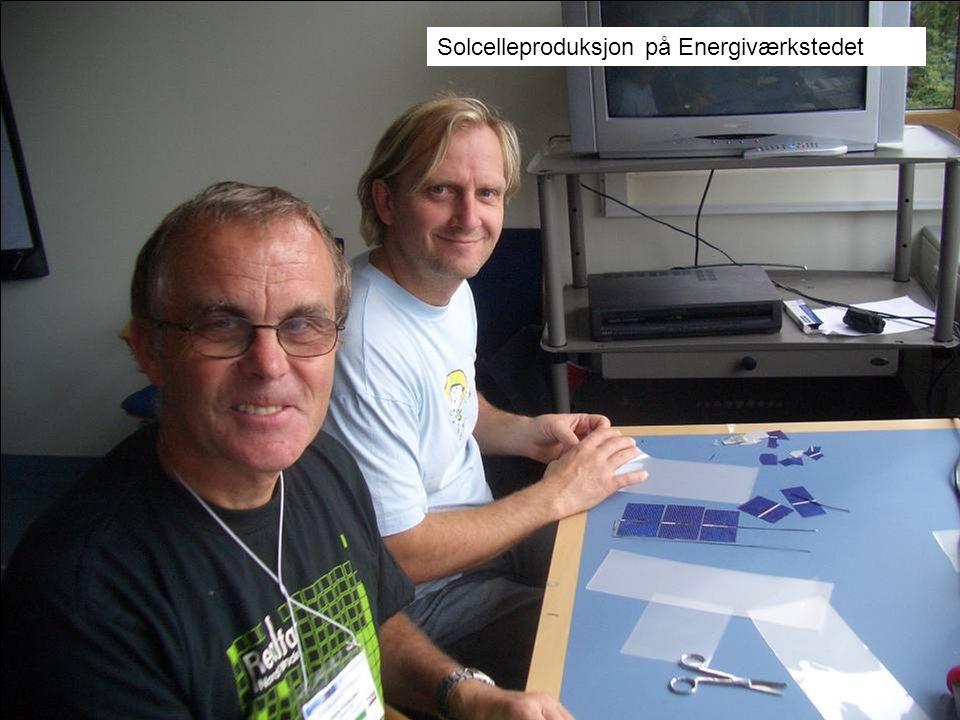 Solcelleproduksjon på Energiværkstedet