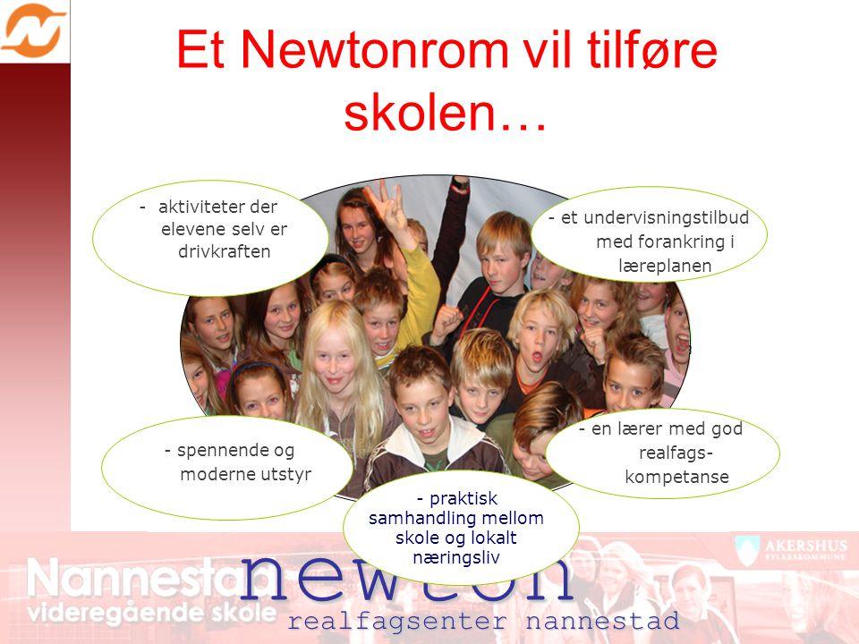 newton Et Newtonrom vil tilføre skolen… realfagsenter nannestad - et undervisningstilbud med forankring i læreplanen - en lærer med god realfags- komp