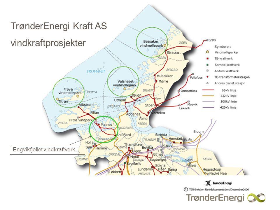 TrønderEnergi Kraft AS vindkraftprosjekter Engvikfjellet vindkraftverk