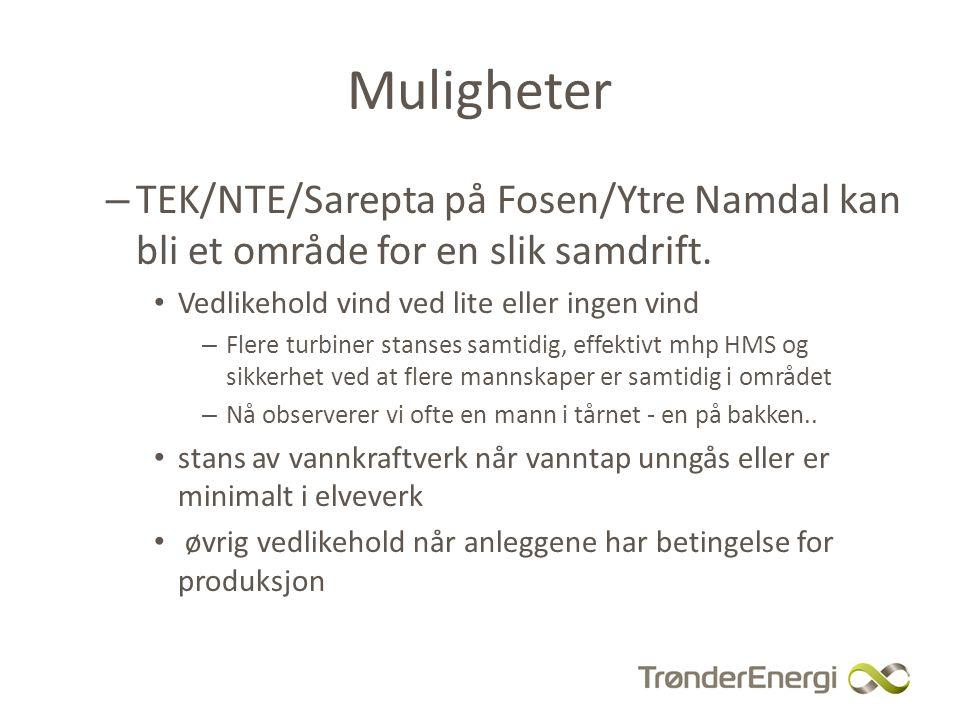 Muligheter – TEK/NTE/Sarepta på Fosen/Ytre Namdal kan bli et område for en slik samdrift.