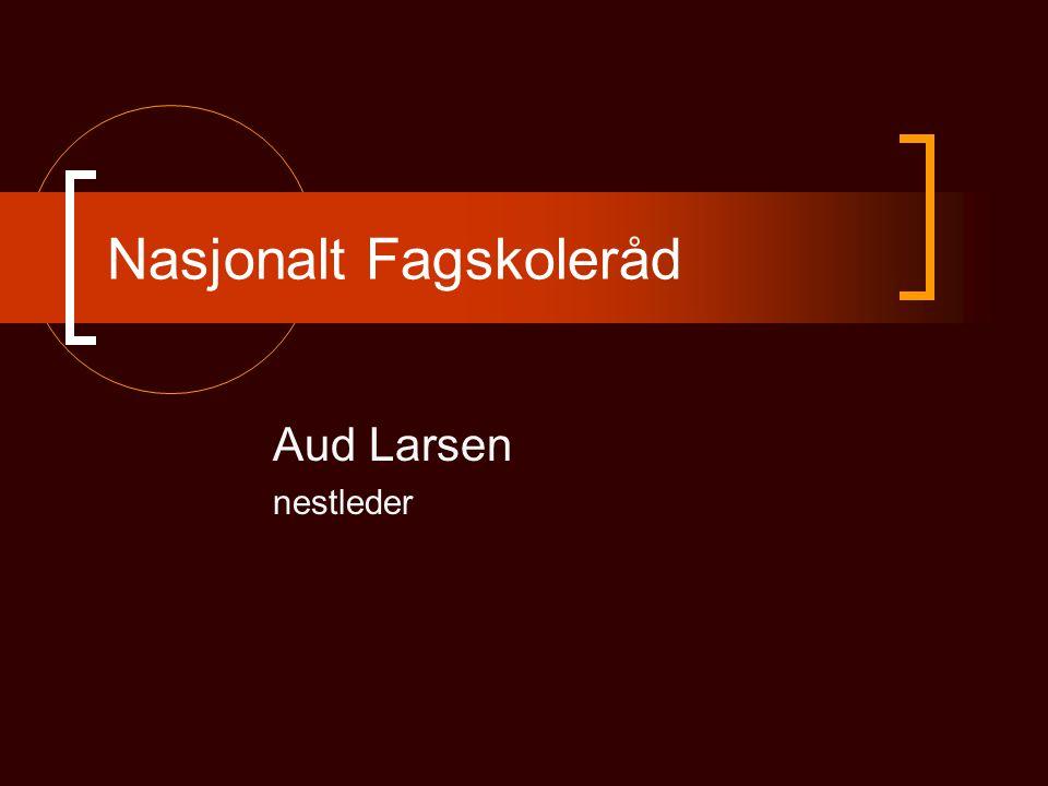 Nasjonalt Fagskoleråd Aud Larsen nestleder