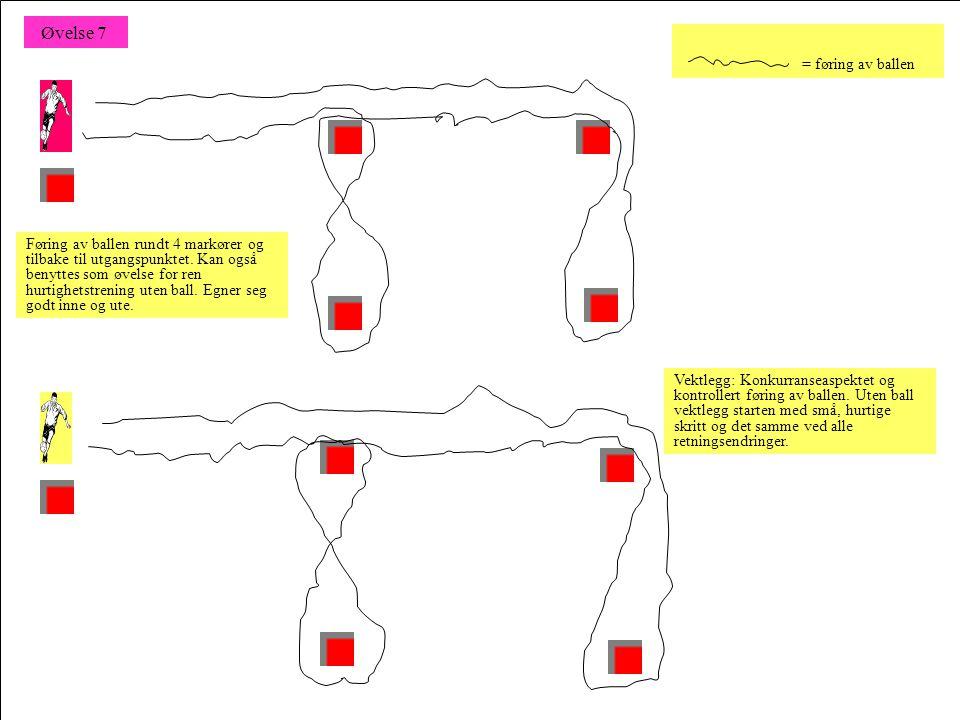 Spill i firkant 3:1 – 4:1 eller 4:2 – 5:2 Direkte spill, 2 –3 eller fritt antall touch, avhengig av dyktighet.