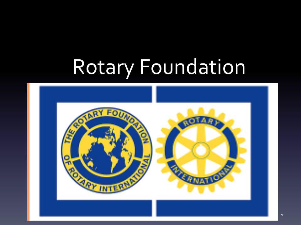 Klubbens mål og planer leveres DG i mai hvert år John Stennes Rotary Foundation seminar 2012 12