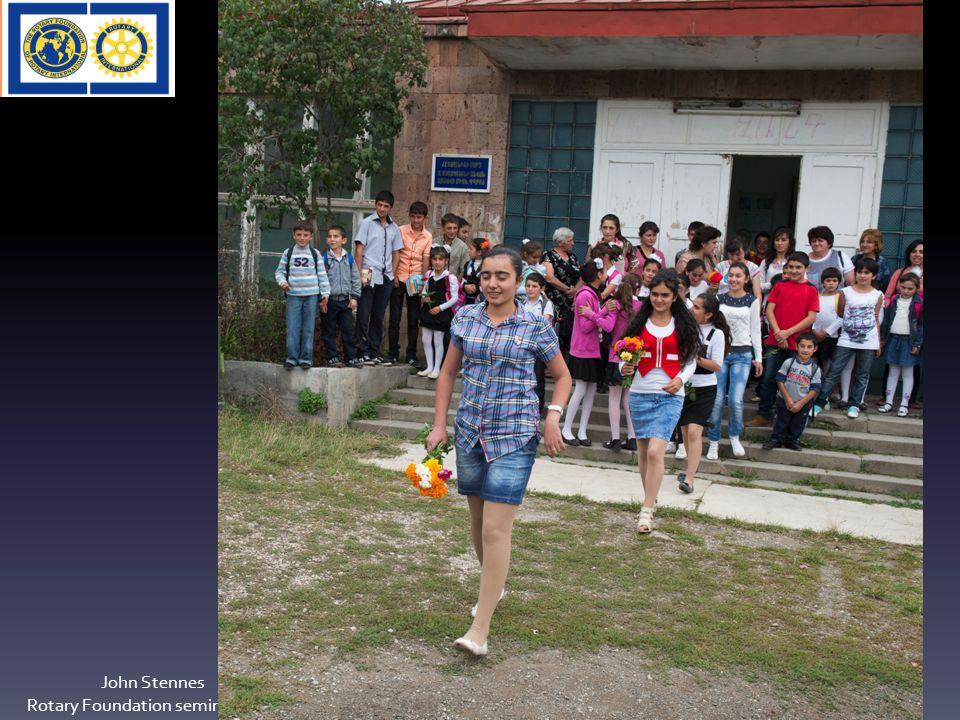 Tilskuddsmidler Matching Grant John Stennes Rotary Foundation seminar 2012 50