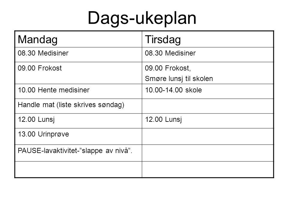 2) Proaktive planer/b-planer Lage planer i forkant av ulike situasjoner/settinger.
