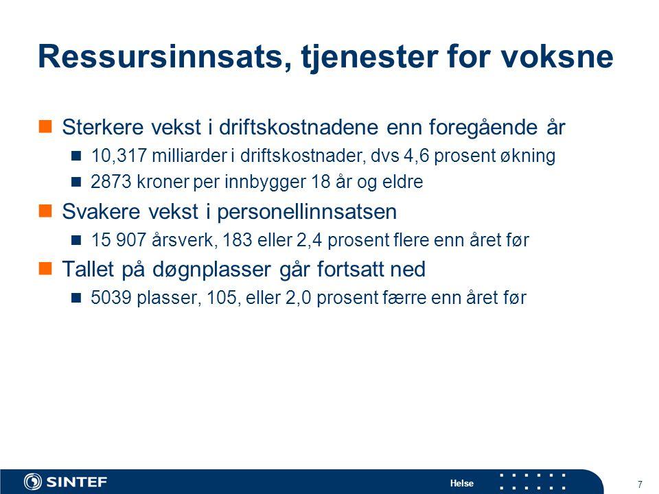 Helse 58 Behandlingsprofil Asker og Bærum DPS-område. Rater for eget DPS og DPS totalt 2005. forts.