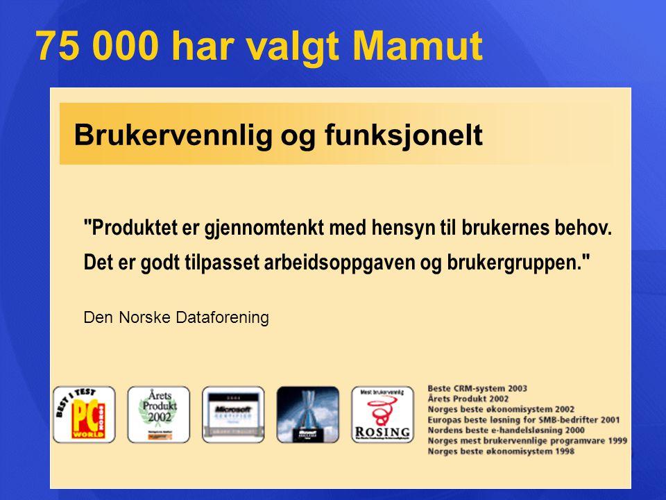 Brukervennlig og funksjonelt 75 000 har valgt Mamut