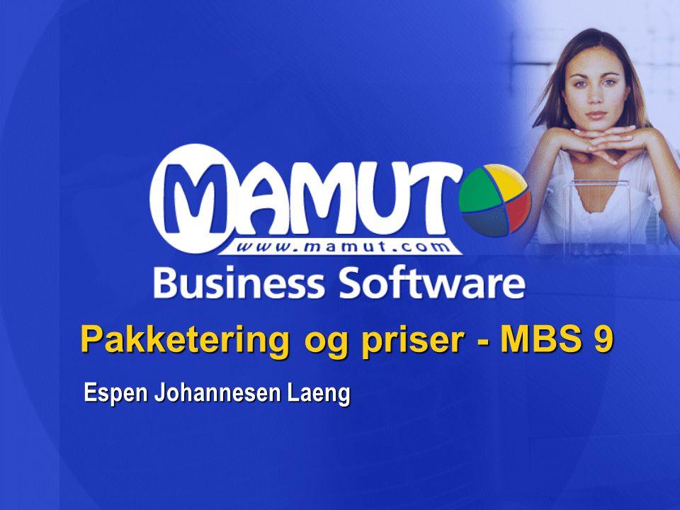 Pakketering og priser - MBS 9 Espen Johannesen Laeng
