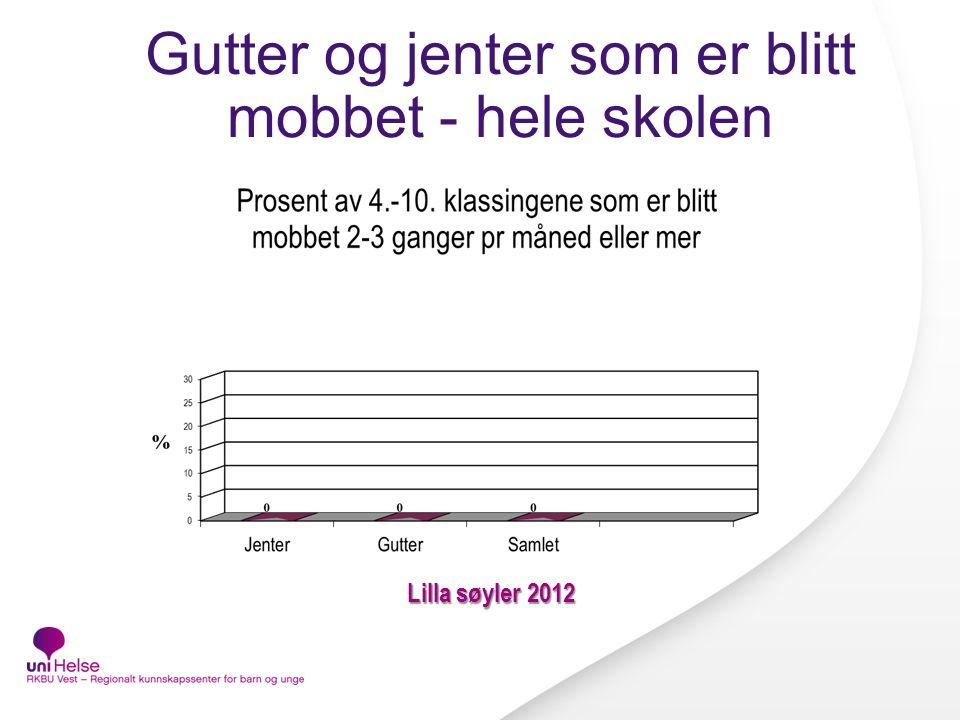 Gutter og jenter som er blitt mobbet - hele skolen Lilla søyler 2012