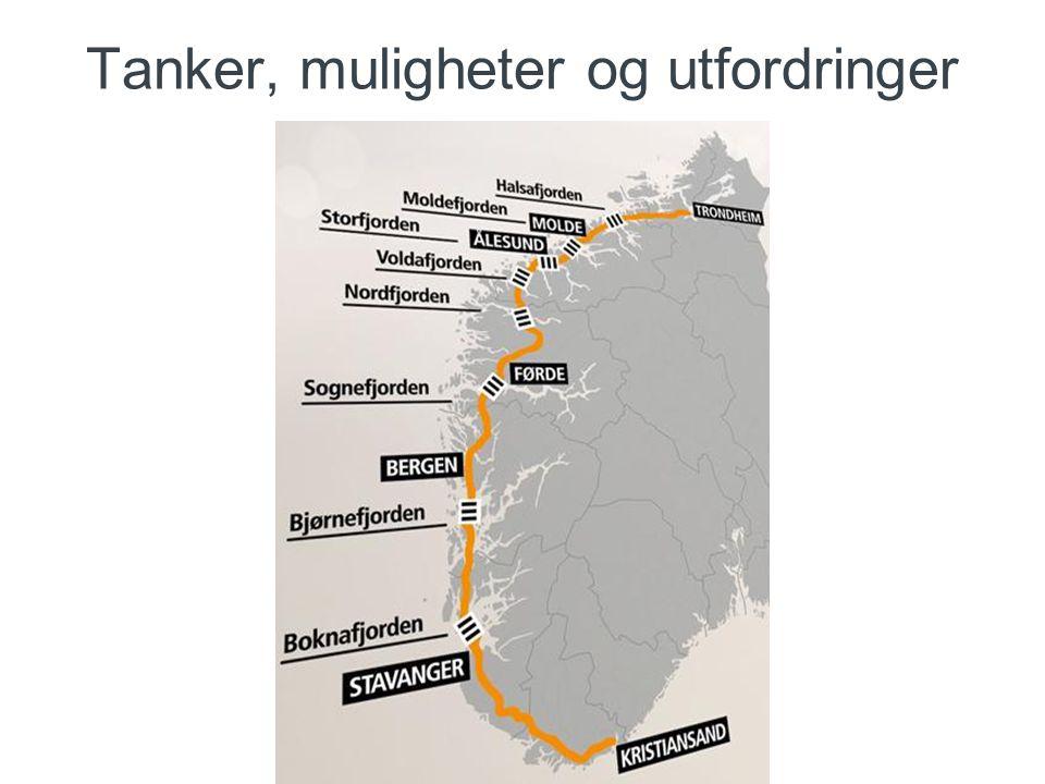 konkurransepreget dialog Erfaring: E6 Dagsone vest, Trondheim Fergeutviklingskontrakt Konseptutvikling ferjefri E39 for fjordkrysningene