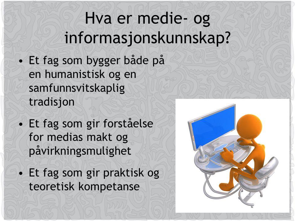 Hva er medie- og informasjonskunnskap.