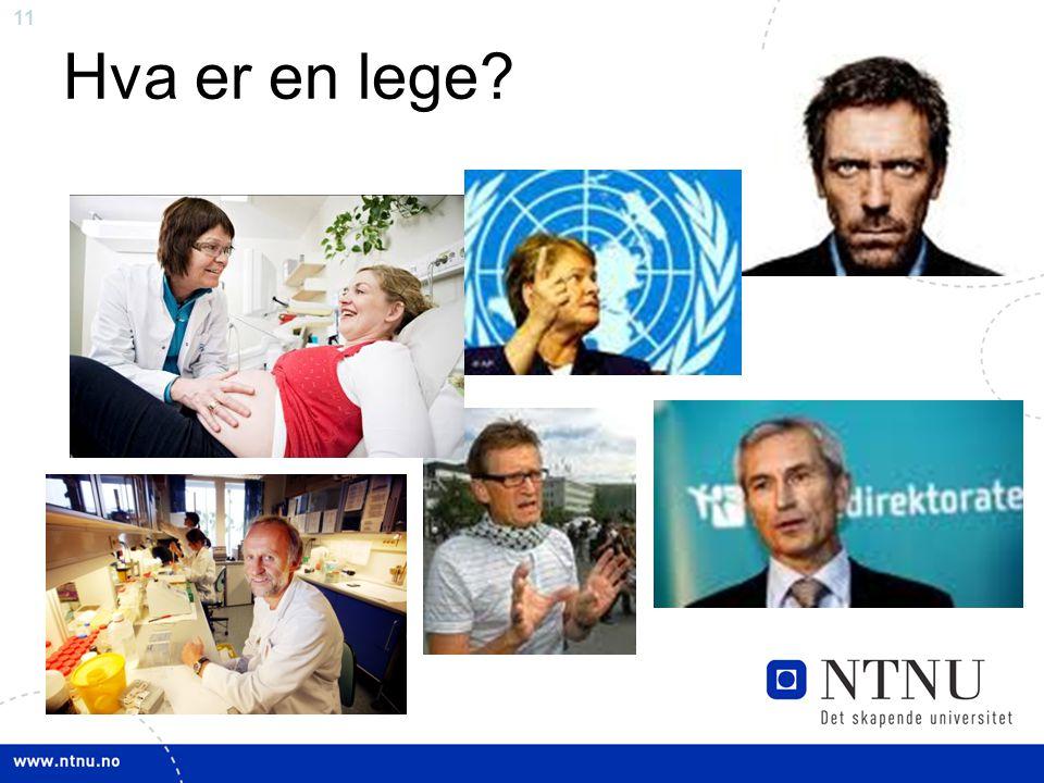 11 Hva er en lege?