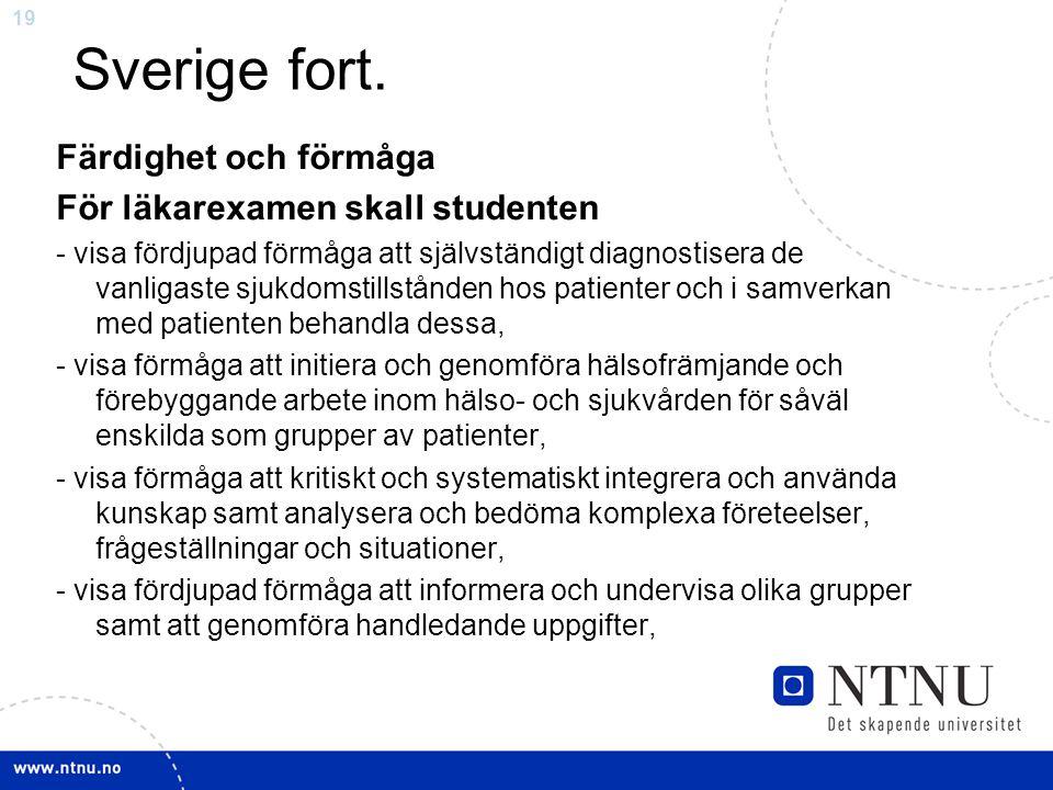 19 Sverige fort.