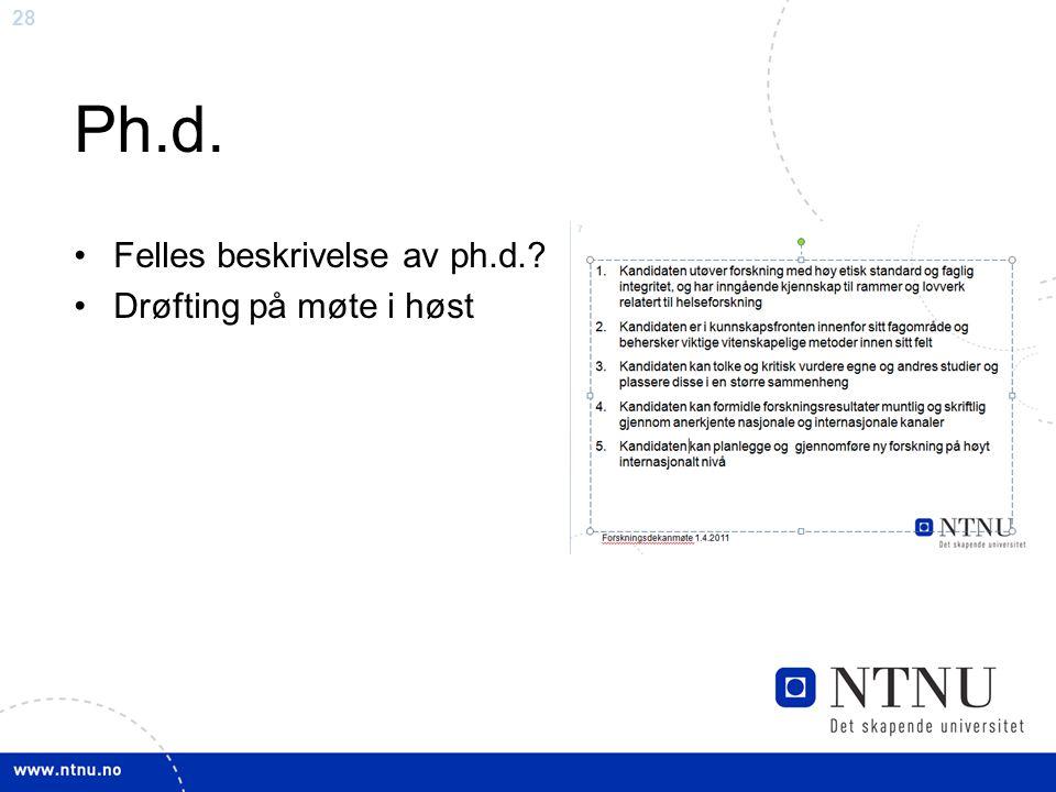 29 Spørsmål til diskusjon Felles læringsmål for medisinstudiene i Norge.