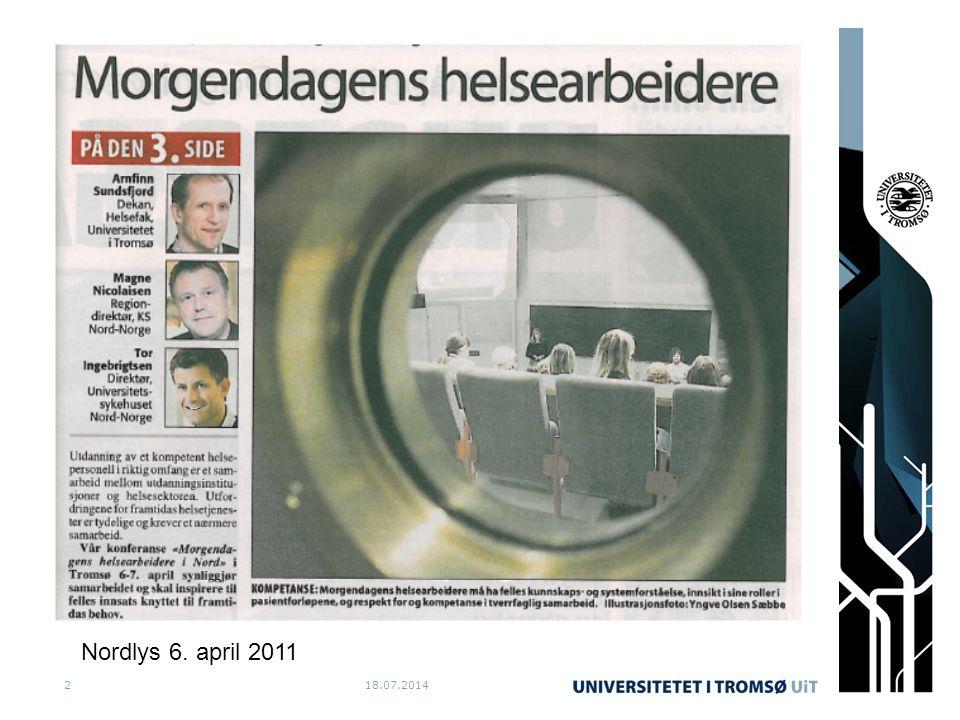 18.07.20142 Nordlys 6. april 2011