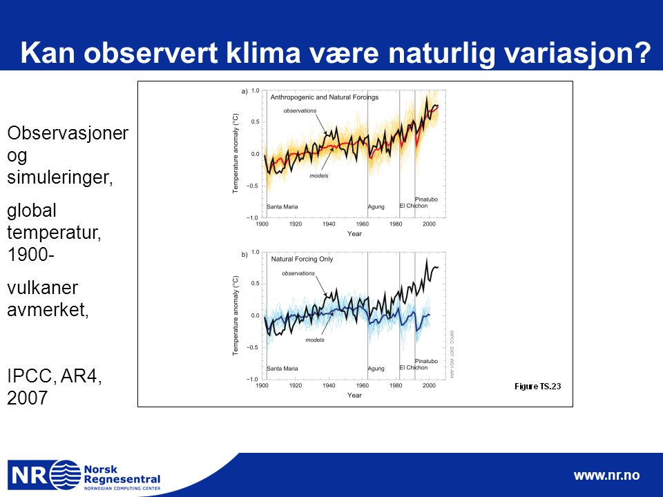 www.nr.no Kan observert klima være naturlig variasjon.