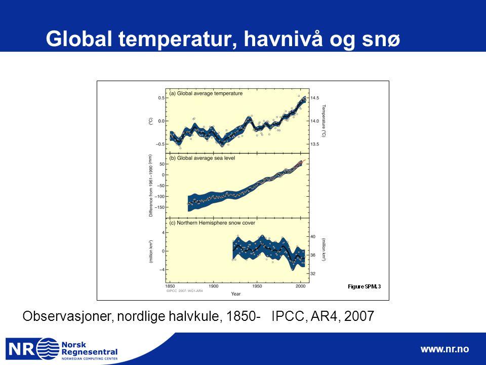 www.nr.no Utvikling av klimamodeller, IPCC TAR,2001