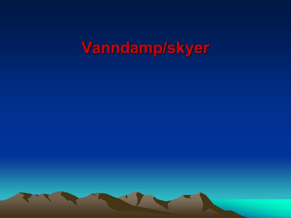 Vanndamp/skyer
