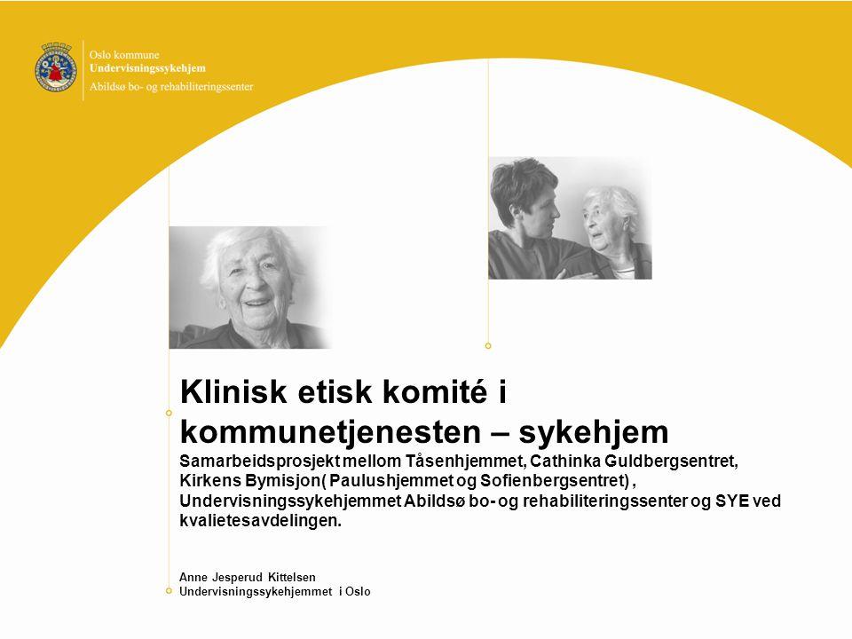 Oppstart av KEK Invitasjon fra SME høst 2006 Oppstart samling vår 2007, med 5 sykehjem, og hjemmetjenesten i Bydel Østensjø Etablerte KEK med 3- 4 representanter fra hvert sykehjem Alle har deltatt på SME's innføringsseminar i etikk og kliniske etikk-komiteer