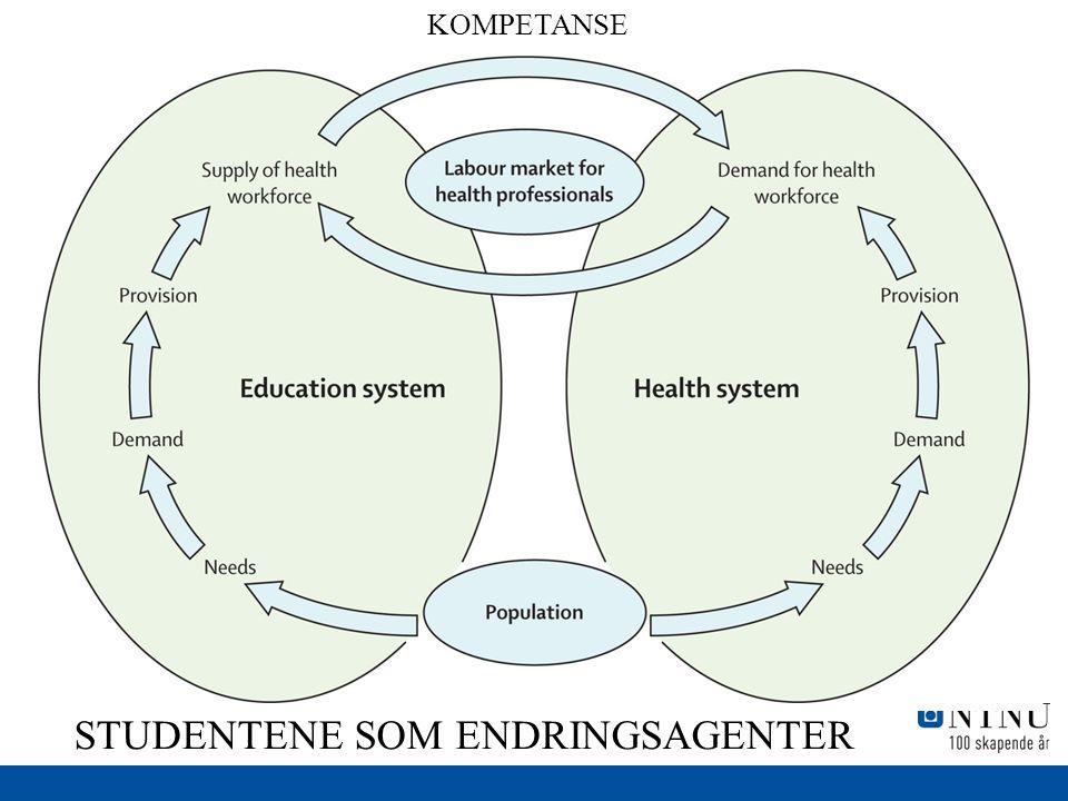 Figure 3 STUDENTENE SOM ENDRINGSAGENTER KOMPETANSE