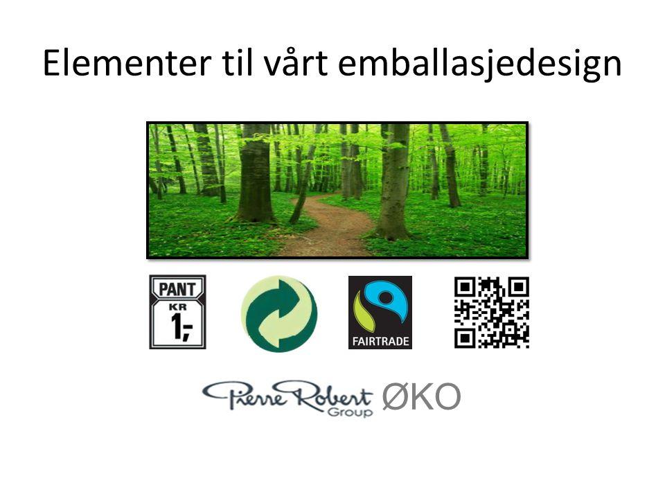 Elementer til vårt emballasjedesign ØKO